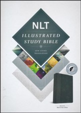 NLT Illustrated Study Bible--soft leather-look, black (indexed)