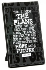 For I Know the Plans Plaque
