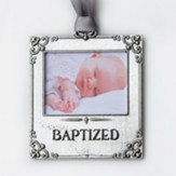 Baby's Baptism Photo Ornament