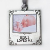 Jesus Loves Me Photo Ornament