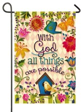 With God All Things Are Possible Flag, Small