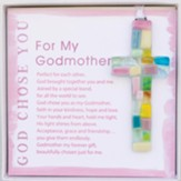 God Chose You For My Godmother Cross Ornament