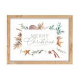 Merry Christmas, Elegant Woodland, Framed Art