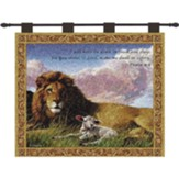 Lion and Lamb--Tapestry Wall Hanging