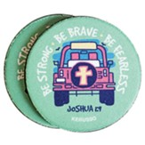 Be Strong Be Brave Be Fearless, Jeep, Car Coasters, Pack of 2