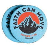 Faith Can Move Car Coasters, Pack of 2