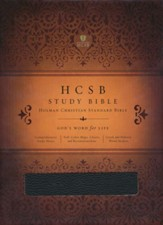 HCSB Study Bible, Black Genuine Leather