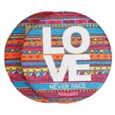 Love Never Fails Car Coasters, Pack of 2