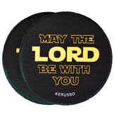 May the Lord Be With You Car Coasters, Pack of 2