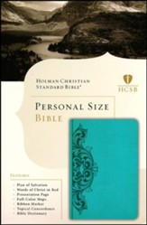HCSB Classic Personal Size Bible, Teal Imitation Leather
