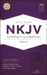NKJV Compact UltraThin Bible, Purple Imitation Leather