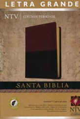 Biblia NTV Ed. Personal Letra Gde. SentiPiel, Cafe, Ind.  (NTV Personal Ed. LgPt Bible, Imit. Leather, Brown/Tan, Ind.)