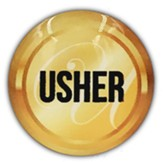 Usher Magnetic Gold Badge