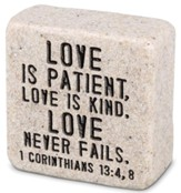 Love is Patient, Shelf Sitter Stone