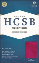 HCSB Ultrathin Reference Bible, Pink  LeatherTouch