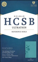 HCSB Ultrathin Reference Bible, Teal LeatherTouch , Flower
