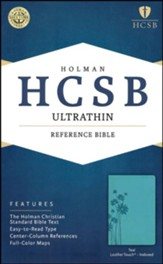 HCSB Ultrathin Reference Bible, Teal LeatherTouch, Thumb-Indexed , Flower