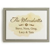 Personalized, Framed Sign, Family Name, Yellow