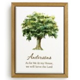 Personalized, Framed Art, Tree, As For Me and My House