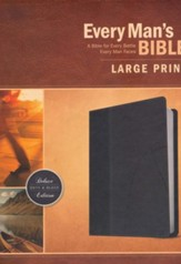 NIV Every Man's Large-Print Bible--imitation leather, black/onyx - Imperfectly Imprinted Bibles