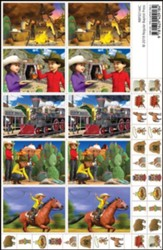 GiddyUp Junction: Sticker Sheets (pkg. of 5)