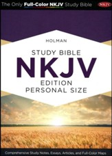 Holman Study Bible: NKJV Edition, Personal Size, Black & Tan LeatherTouch
