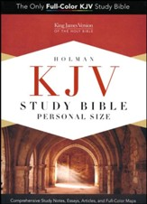 KJV Study Bible Personal Size, Black and Tan LeatherTouch