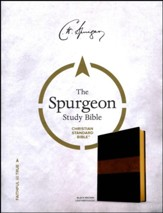CSB Spurgeon Study Bible, Black and Brown LeatherTouch - Imperfectly Imprinted Bibles