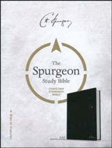 CSB Spurgeon Study Bible, Black Genuine Leather, Thumb-Indexed