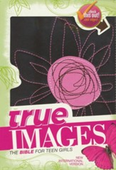 NIV True Images: The Bible for Teen Girls, Espresso and Pink Flower, Italian Duo-Tone