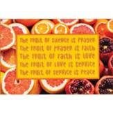 The Fruit of Silence is Prayer Plaque