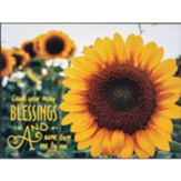 Count Your Many Blessings, Sunflower, Wall Plaque