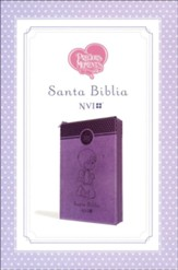 Santa Biblia Precious Moments NVI, Angelitos, Ultrafina Compacta Purpura con cierre (Purple Angels with Zipper, Thinline Compact)