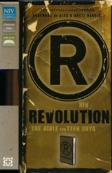 NIV Revolution: The Bible for Teen Guys: Updated Edition, Italian Duo-Tone, Brown - Slightly Imperfect