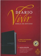 Biblia de estudio del diario vivir RVR60, DuoTono, Soft Imitation Leather, Onyx, With thumb index