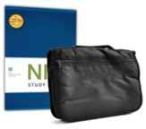 NIV Study Bible, hardcover with Bible cover