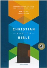 NLT Christian Basics Bible, Brown/Tan Soft Imitation Leather with Thumb Index