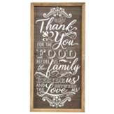 Thank You For the Food Wall Plaque
