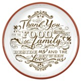 Thank You For the Food Pie Plate