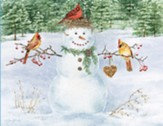 Happy Snowman Christmas Cards, Box of 18