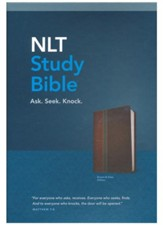 NLT Study Bible, TuTone, LeatherLike, Slate