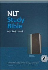 NLT Study Bible, TuTone, LeatherLike,Blue/Brown, With thumb index  - Imperfectly Imprinted Bibles