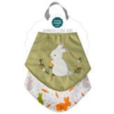 Oatmeal Bunny Bibs, Set of 2