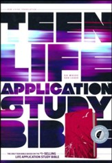 NLT Teen Life Application Study Bible, Pink Fields Indexed Leatherlike