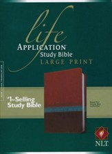 NLT Life Application Study Bible 2nd Edition, Large Print  TuTone Brown/Tan/Heather Blue Leatherlike