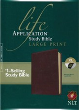 NLT Life Application Study Bible, Large Print Brown Indexed Leatherlike