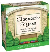 2019 Church Signs Day-To-Day Calendar