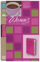 NIV Women's Devotional Bible, Italian Duo-Tone, Raspberry - Imperfectly Imprinted Bibles