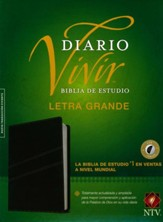 Biblia de Estudio del Diario Vivir NTV, Letra Gde., Piel Negra I.   (NTV Life Application Study Bible, LGPT., Black Leather I.)
