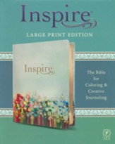 NLT Large-Print Inspire Bible: The  Bible for Coloring & Creative Journaling
